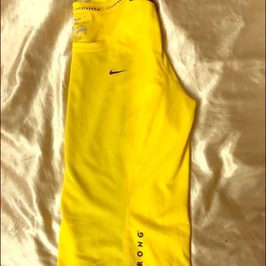 Neon Yellow Nike Women's Long-sleeve